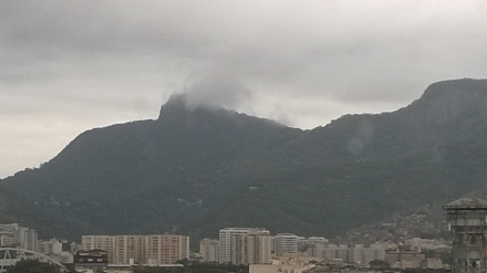 Christ the Redeemer was in the clouds.