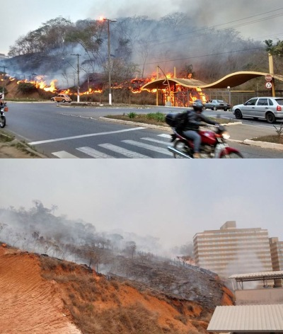 2nd entrance to university's campus on fire