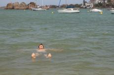 Swimming in the Atlantic Ocean