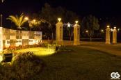 """""""Quatro Pilastras"""", or """"Four Pillars"""" entrance to campus"""