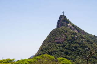 Christ the Redeemer seen from half way to the top