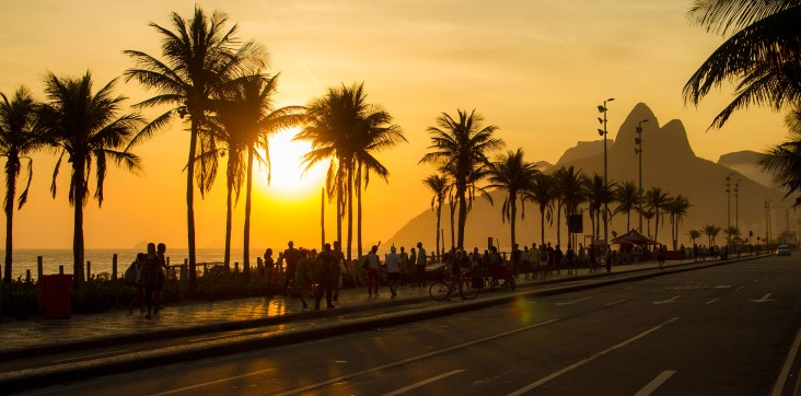 Ipanema at sunset is spectacular