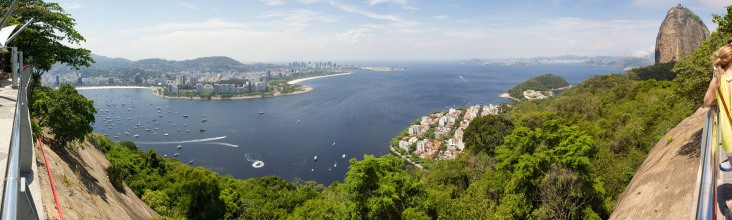Panorama of Rio from Morro da Urca (first stop on the way up to Sugarloaf Mountain!