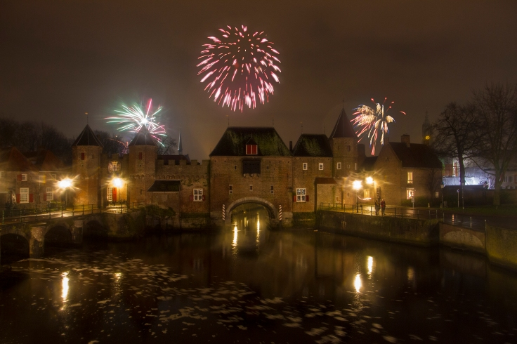 "Photo from last new year, shot by the ""Koppelpoort"" here in Amersfoort."