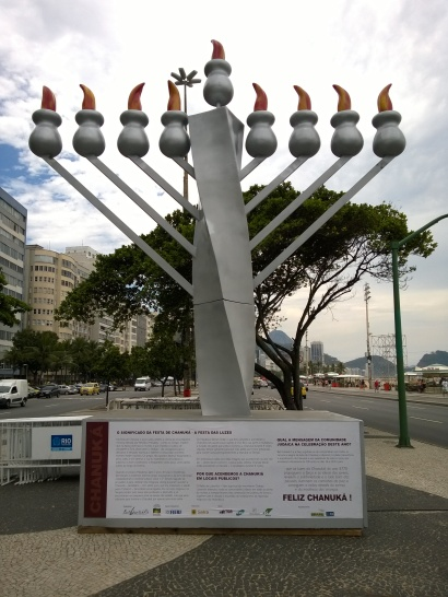 Menorah in the middle of Rio!