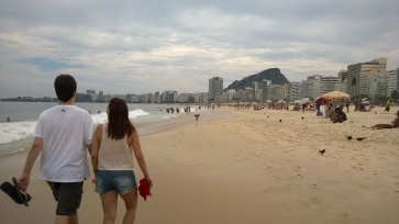 Walking 3/4 length of Copacabana beach