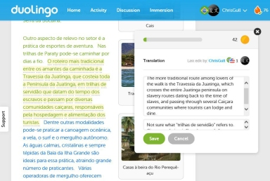 Duolingo helps/ajuda!