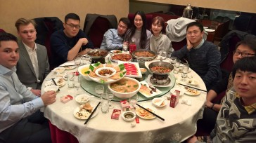 Pre-wedding dinner (day before wedding), in one of the many private rooms at the restaurant