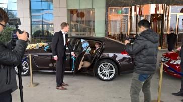 Wedding car was a Porsche Panamera