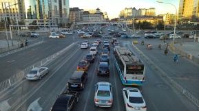 Beijing traffic. O trânsito de Pequim.