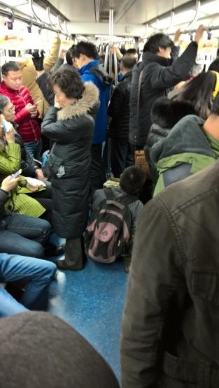 Beggar on the metro. Mendigo no metrô.