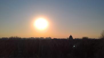 Afternoon over Beijing. Tarde em Pequim.
