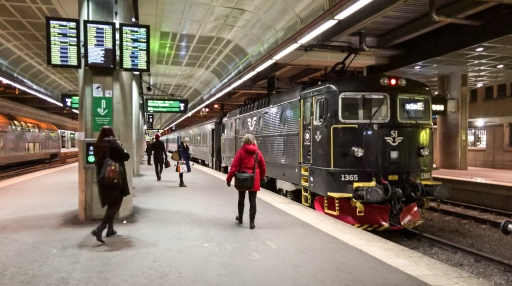 Train to Uppsala.