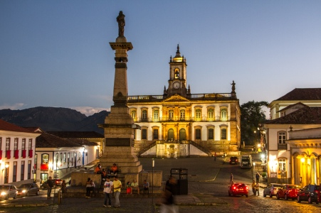 Tiradente Square, Ouro Preto, UNESCO World Heritage colonial city