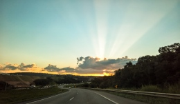 Lovely sunset near Belo Horizonte