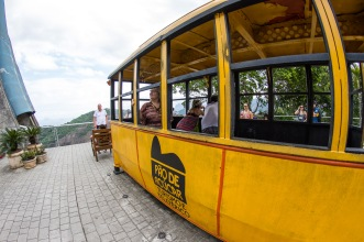 How the cable cars looked in the beginning. Pão de Açúcar (Sugarloaf mountain), Rio de Janeiro