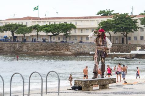 Convincing Captain Sparrow copy! Copacabana, Rio de Janeiro