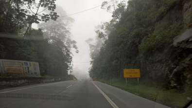 Onwards to next destination: Viçosa. Travelling high in the mountains, through clouds