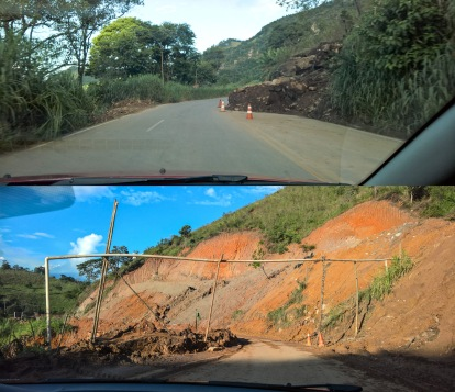 Rain period has wreaked havoc with some road sections. Half the road had totally collapsed into the ravine at one point.