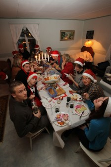 Christmas with family, in Finland